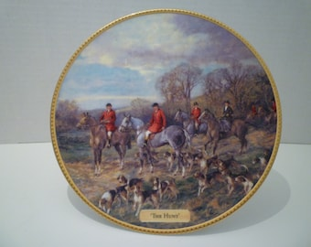 "ENGLISH HUNT. Royal Doulton. HUNT Scene Plate. Collectible. Numbered. English Bone China. ""The Hunt"". Hunt Scene Plate"