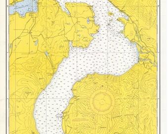 Pend Oreille Lake -1965 Idaho - Nautical Map Reprint Chart 6170