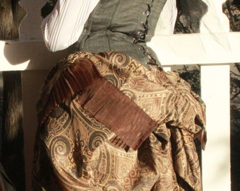 MADE TO ORDER: Earth or Fire Steampunk Multi-Layer Bespoke Bustle Skirt