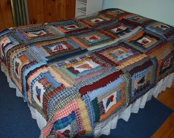 Gorgeous Double Sized Rag Quilt