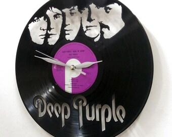 Deep Purple Wall Art -Vinyl LP Record Clock or Framed Vinyl-Great Rock'n'Roll Gift ,Vinyl Wall Clock,Wall records clock