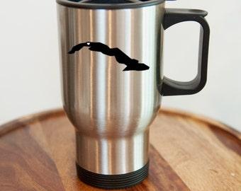 Cuba Stainless Steel Travel Mug.  Hometown, Custom, Coffee, Mug, Stainless Steel