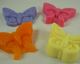 10 BUTTERFLY  SOAP Favors-  Spring Soap Favors-  Baby Shower Favors