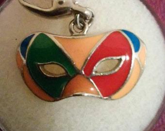 Venetian Carnival Mardi Gras Enamel mask charm