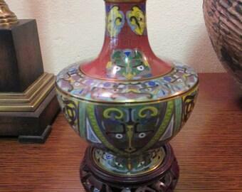 Large Cloisonne' Dragon Vase