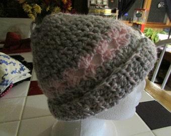 Pretty ladies crocheted beanie  hat
