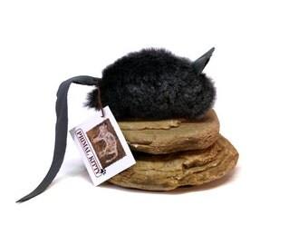 Cat Toy Big Mouse, Organic Catnip or Silvervine Mix Optional