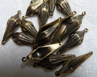 """Cast metal vintage gold connectors,3/4"""",16pcs-CMP144"""