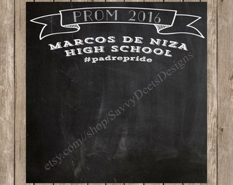 Complete Custom Chalkboard Prom Photo Backdrop Printable - Chalkbaord Photo Backdrop - Prom Photo Backdrop - Prom Photos - DIY Printable