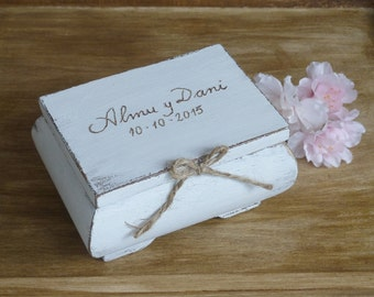 Ring Bearer Box Shabby Chic Rustic Wedding Decor Ring Bearer Pillow Alternative  Wedding Ring Box Ring Box Personalized Gift