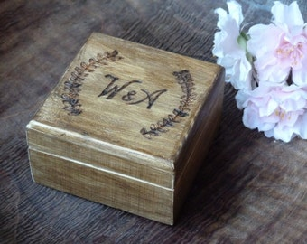 Personalized Wooden Ring Box Engraved Engagement Ring Box Will you Marry me Wedding Ring Box Ring Bearer Box