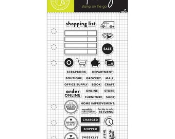 Clearly Kelly Shopping Planner Hero Arts Clear Acrylic Stamp Set CL936 NEW!