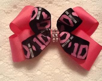 Handmade Pink 1Direction Hair Bow