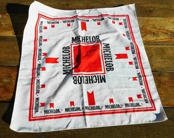 Vintage 80s Michelob Beer Promo Bandana Handkerchief