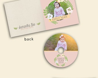 Dvd case etsy floral dvd case and label template photography template photoshop template instant download pronofoot35fo Gallery