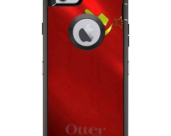 Custom OtterBox Defender Case for Apple iPhone 6 6S 7 8 PLUS X 10 - Monogram - USSR Soviet Flag Waving