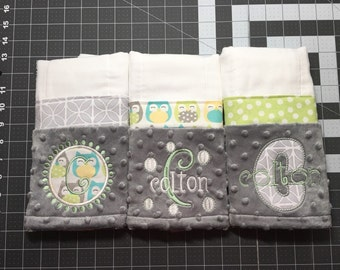 Personalized Burp Cloth - Set of 3