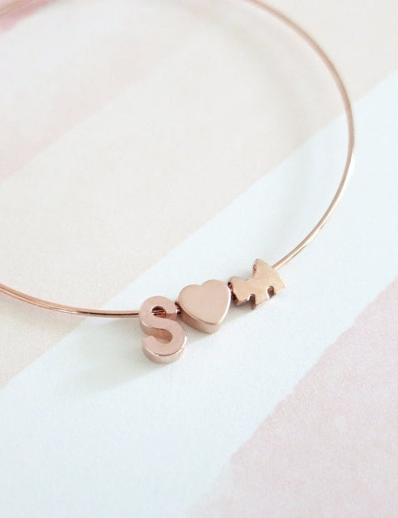 Name Bangle, Name bracelet Jewellery, Personalized Gift, Bangles, Rose Gold Silver Bangles, Bridal shower gift Bracelet, cat lover, dog