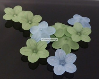Lucite Flower Beads MIXED 10PCS