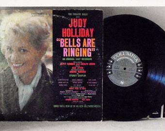 "The Theatre Guild Presents Judy Holliday ""Bells Are Ringing"" Vinyl Record Original Cast Recording Columbia Masterworks Musical LP Mono"