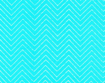 Gamma Ray - Turquoise - Cosmic Convoy - Michéle Brummer Everett - Cloud 9 Organic Quilting Cotton - Space Fabric - Half Yard