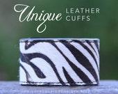 Zebra Animal print cuff bracelet, metal stamped bracelet, wild and free, fierce, Love Squared Designs