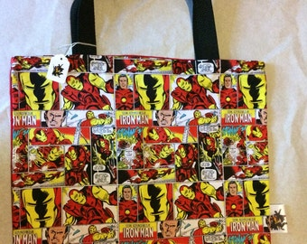 Marvel Iron Man Tote Bag, Trick or Treat Halloween Bag, Reusable Shopping Bag, Laptop Bag, Laptop Sleeve