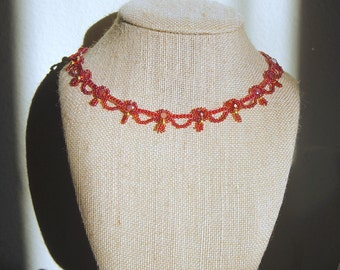 Phoenix Red Waves Necklace