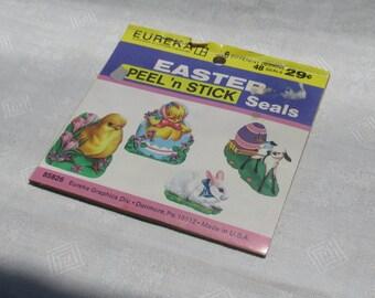 Retro Eureka  Easter Peel N Stick Seals Stickers