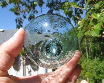 "3.25"" Glass Fishing Float, Collectable, Antique, Nautical Decor, Beach Decor, Beach Cottage Decor, Sea Glass, Home and Garden"