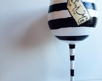 Alice in Wonderland Inspired Wine Glass