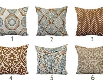 One caramel pillow cover, Home decor, decorative pillow, throw pillow, tan pillow, brown pillow