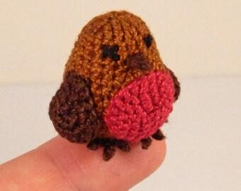 Micro Crocheted Robin