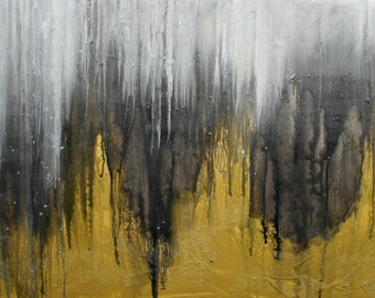 """The Cliffs, 30x60"""" original abstract painting"""