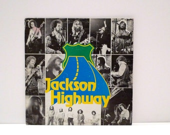 Jackson Highway Vinyl Record w Poster Vintage 1970s Band Southern Country Rock Muscle Shoals Studio Rock Dennis Russell Gulley T Patternson