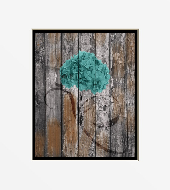 Rustic Teal Brown Wall Art Photography By Littlepiephotoart