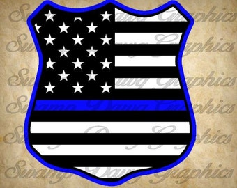 Blue Lives Matter svg, Police badge svg, silhouette, cricut, decal, vinyl, blue lives matter cut file, blue lives matter, american flag