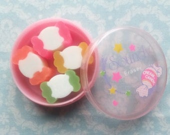 Erasers 1980s Vintage Sweet Candy Soundy