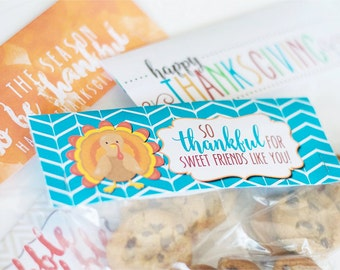 Thanksgiving Treat Bag Toppers