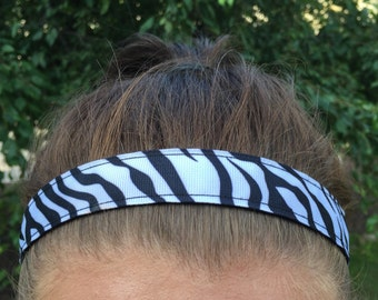 Zebra Print Headbands for Girls - Gift for Kids Headbands - Hair Accessories for Girls - Black and White Headband - Headbands for Women