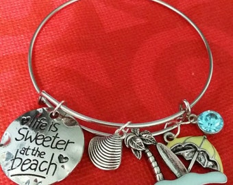 Life is sweeter at the Beach bangle