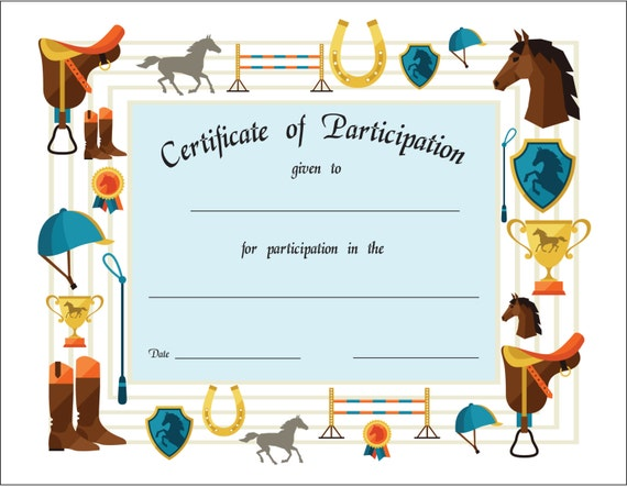 horse riding gift certificate template