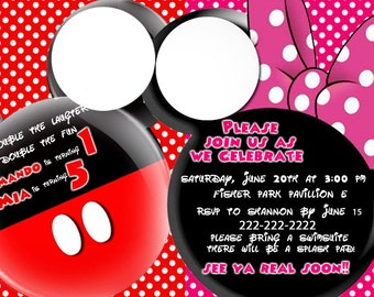 Mickey and Minnie Invitation