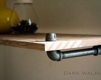 "Shelf - 12/16"" Deep - Shelf, Wood Shelf, Wall Shelf, Shelves, floating shelf, home decor, rustic, wood, furniture, industrial, reclaimed"