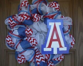 Wildcats Arizona Sport Wreath Basketball wreath College Wreath