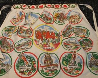 Vintage Canada souvenir apron