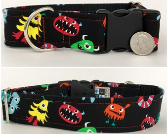Little monsters dog collar