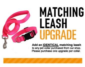 Matching Leash Upgrade