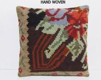 extra large cushion 20x20 ethnic throw pillow kilim pillow ethnic cushion cover DECOLIC bohemian throw pillow handmade cushion cover B1376