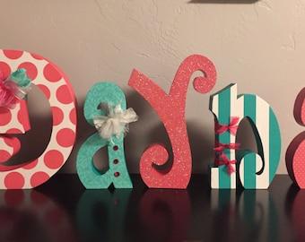 Custom wood letters. Nursery letters. Wedding letters. Home decor letters.